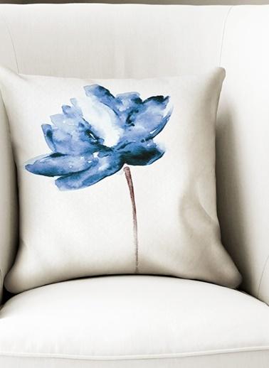 Lyn Home & Decor Mavi Lotus Sag Yastık Kılıfı Renkli